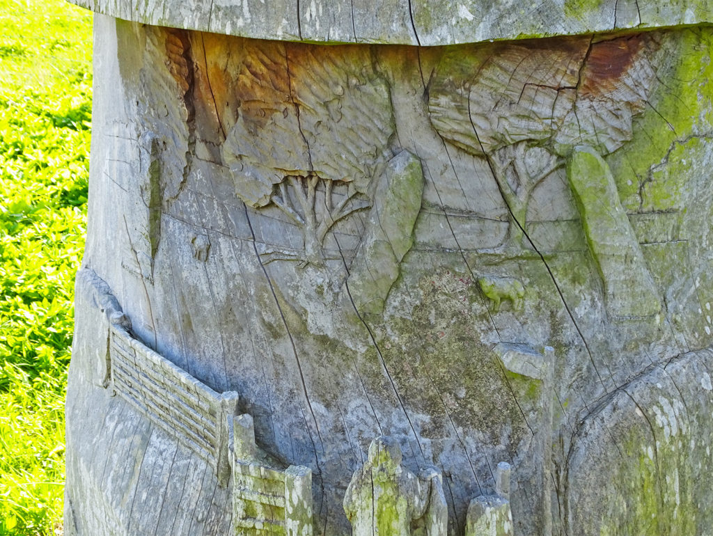 carved wooden sundial Trellech (Strolls 'n' Stories) One Epic Road Trip Blog